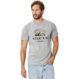super.natural Graphic Tee Men Ash Grey Melange/Mountain Lovers Logo